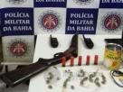 PM prende homens armados que traficavam drogas em Vera Cruz.
