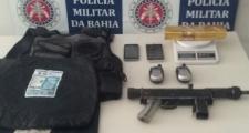 Ação Conjunta resulta na prisão de criminosos com submetralhadora em Porto Seguro