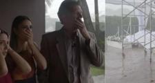 """Tempestade destrói estrutura em """"Fábrica de Casamentos"""" e assusta equipe no SBT"""