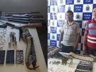 Acusados de roubo, posse ilegal de armas e tráfico de drogas são presos em operação no interior da Bahia