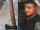 Bahia: Jovem é preso por agredir a própria avó com golpe de machado na cabeça