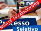 Itapebi: Empresa responsável pela Seleção Pública 001/2019 publica nota de esclarecimentos