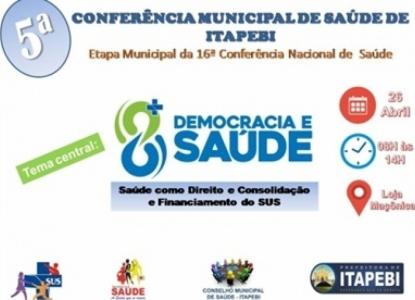 Conferência Municipal de Saúde acontecerá na próxima sexta-feira (26)